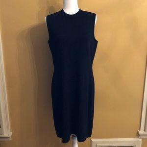 Sleeveless black knit St. John Dress. Like new.